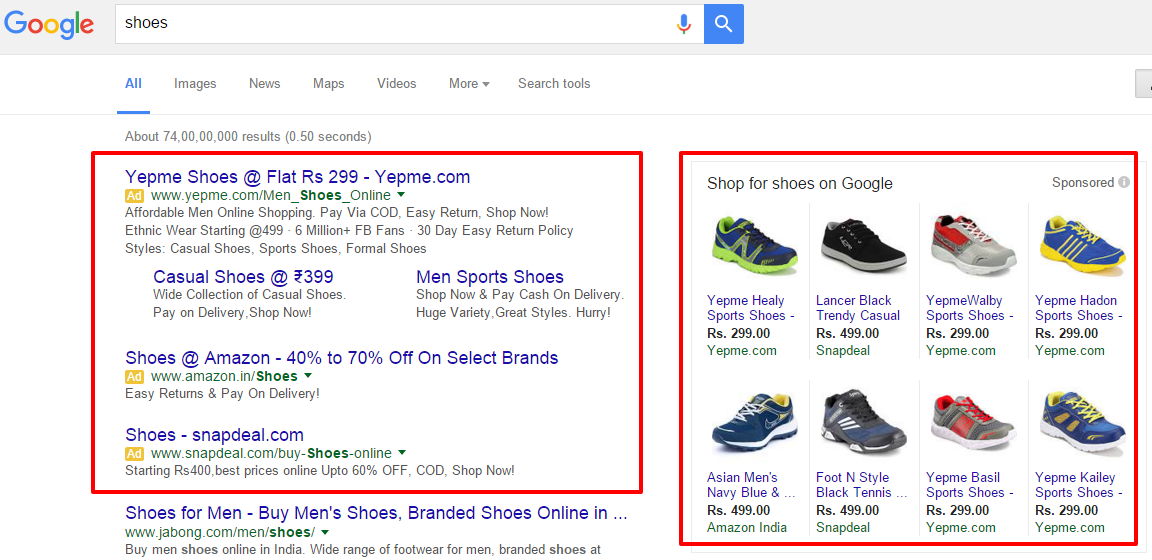Shoes Search Query