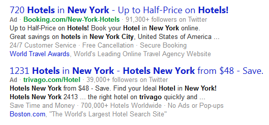 Bing Ads Pulling Landing Page Content