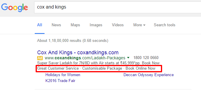 adwords callout ad extensions