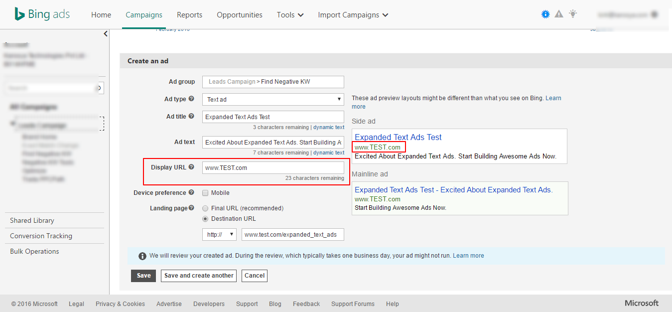 Expanded Text Ads - One Difference Between Bing Ads and AdWords ...