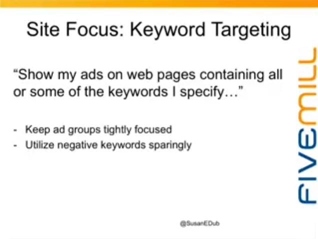 keyword targeting display