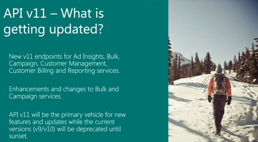 Bing Ads API v11 updates