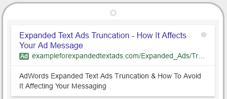 mobile view expanded text ads truncation