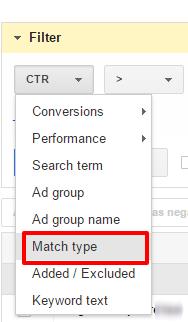 match type adwords