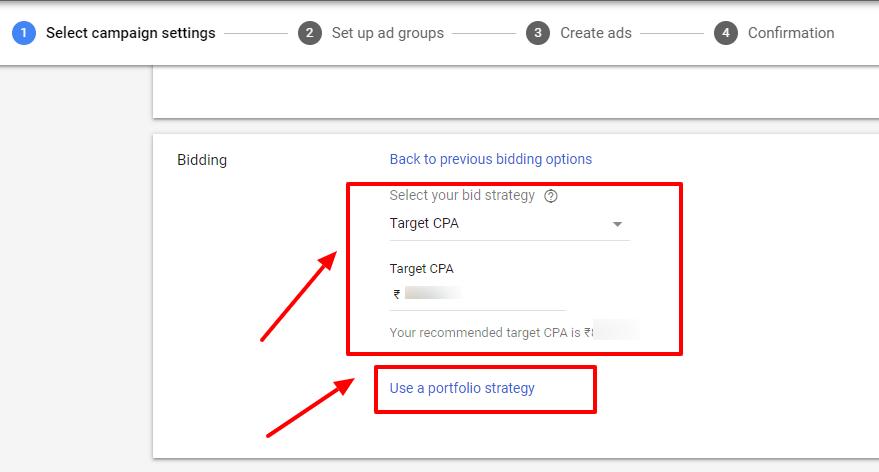 new campaign bidding strategy google ads