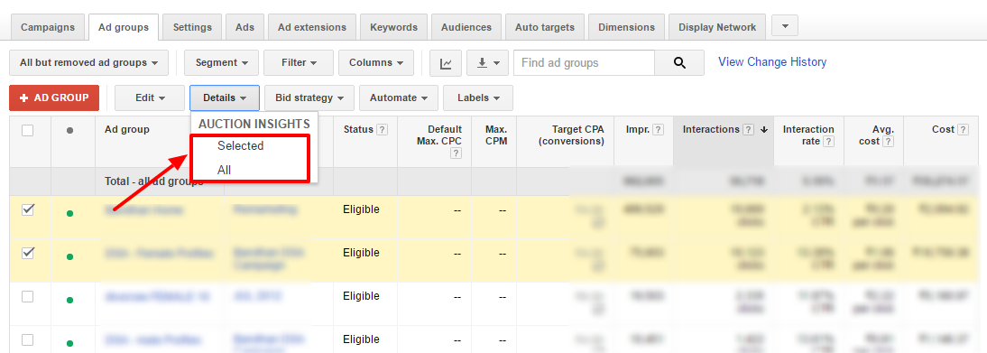 find competitors adwords