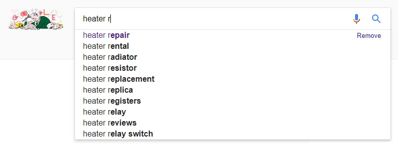 google suggest search terms