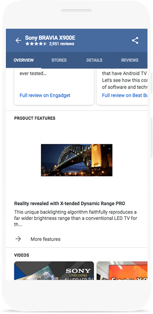 product features - google manufacturer center