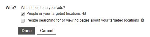 advanced location targeting bing ads