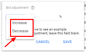 increase decrease bids - ad schedule new adwords ui
