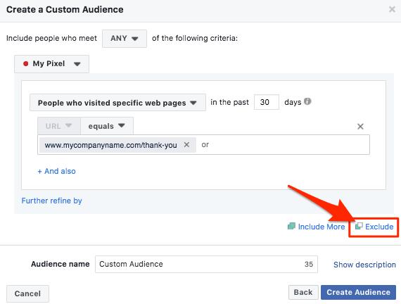 exclude facebook custom audience