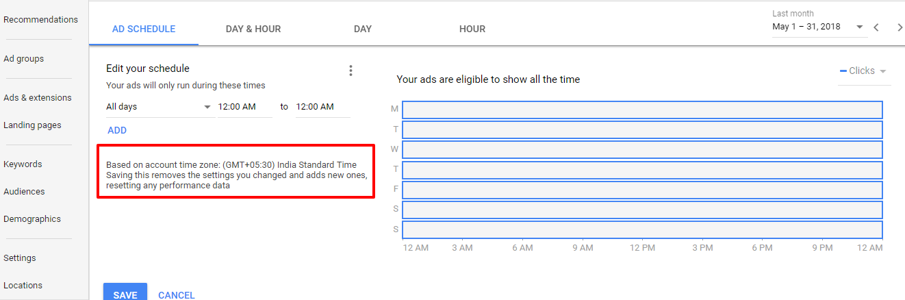 adwords ad schedule
