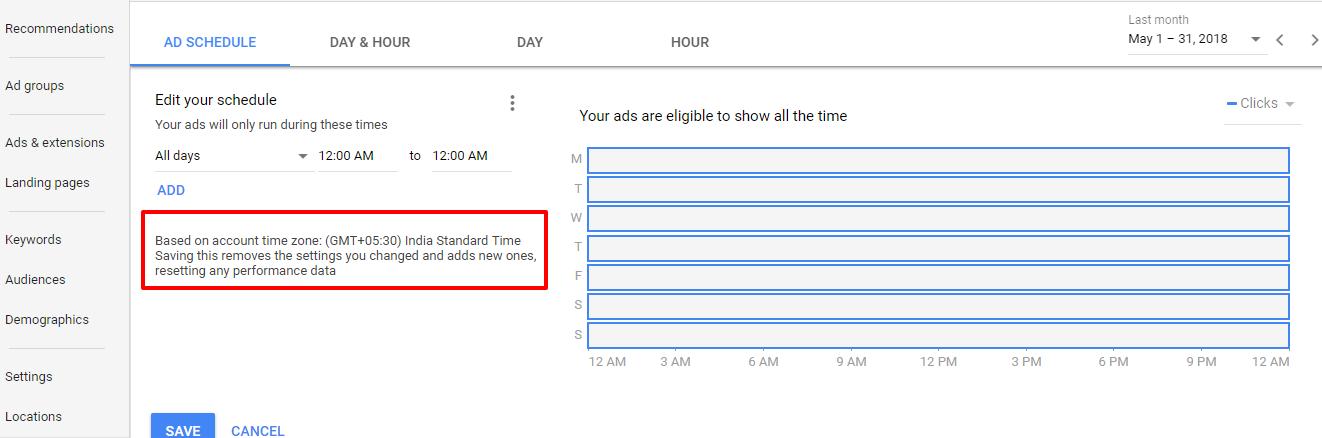 adwords ad schedule