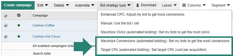 target cpa bing ads