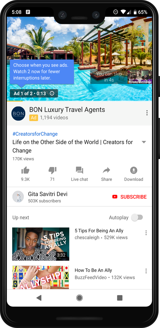 ad pod testing in youtube