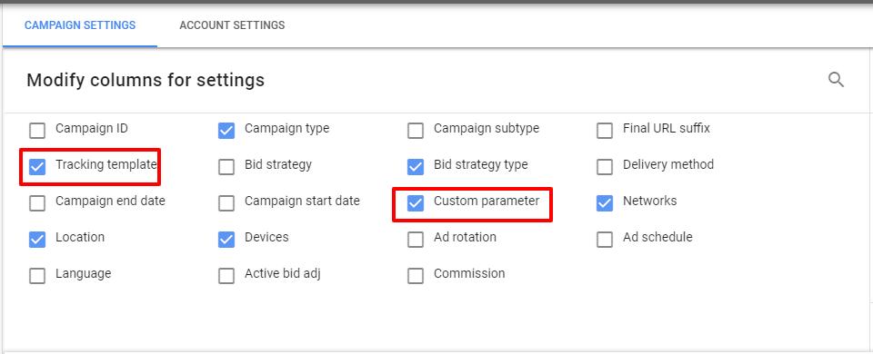 modify campaign columns