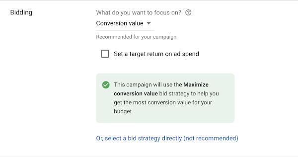 maximum conversion value google ads