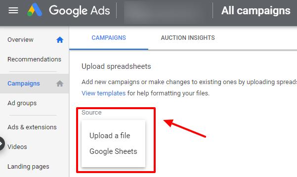upload ETA on google ads (2)