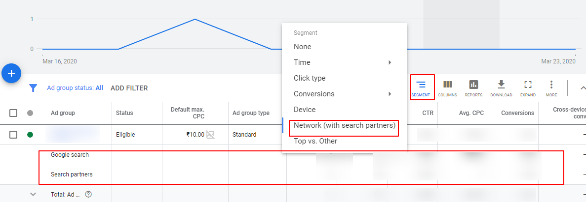 review search partners google ads