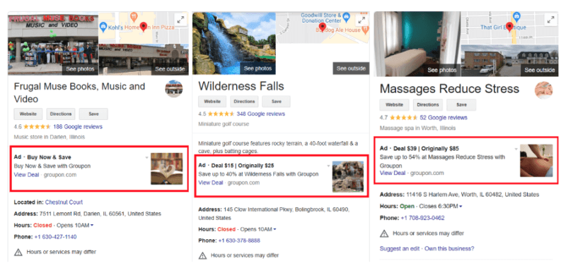 Google's new pilot program to test ads on local business profile