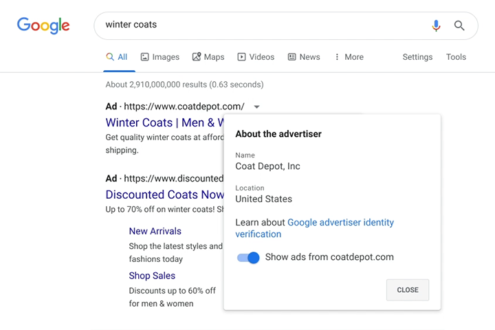 Advertiser Identity Verification Policy In Google Ads