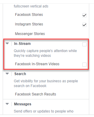Facebook has expanded four tools, specific to the in-stream ad placements