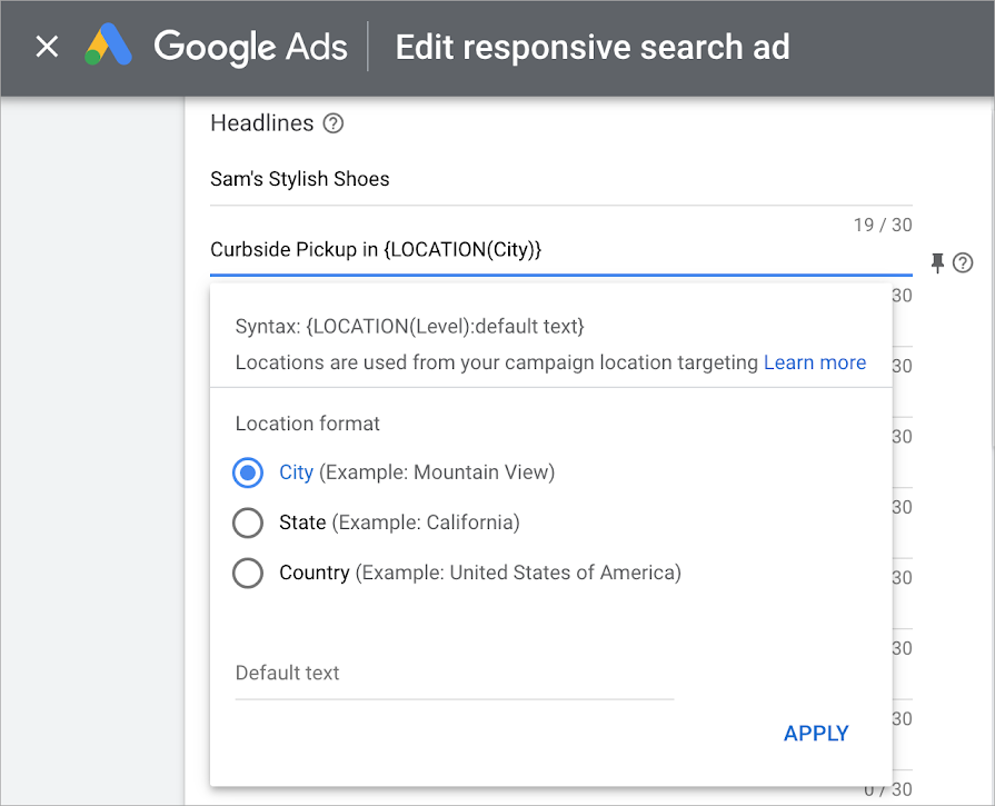 New features for responsive search ads