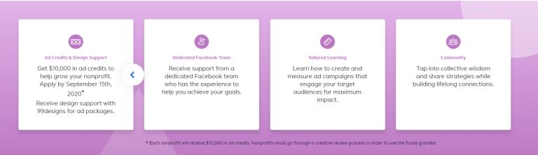 Facebook Ads for impact program