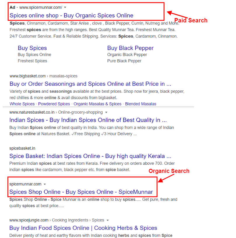 Organic search is low that's why bidding on branded term is important