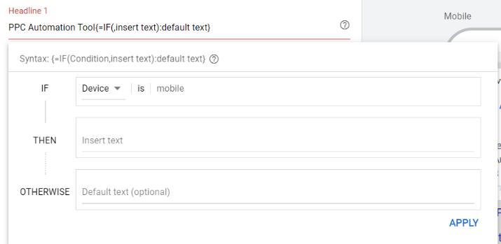 If function ad customizer in ETA