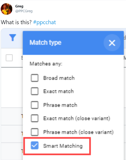 New Match Type in Google Ads