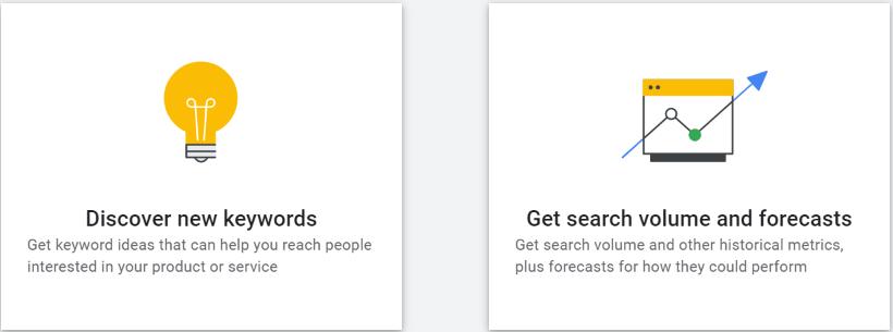 Exploring new keywords in Google ads keyword planner