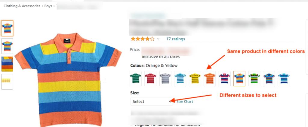 Amazon Product Variation