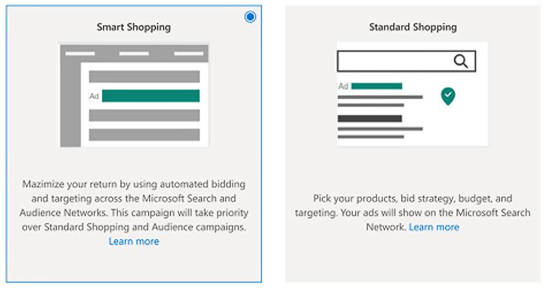 Smart Shopping in Microsoft Advertising