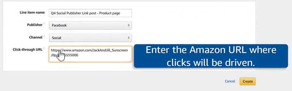 amazon product page url