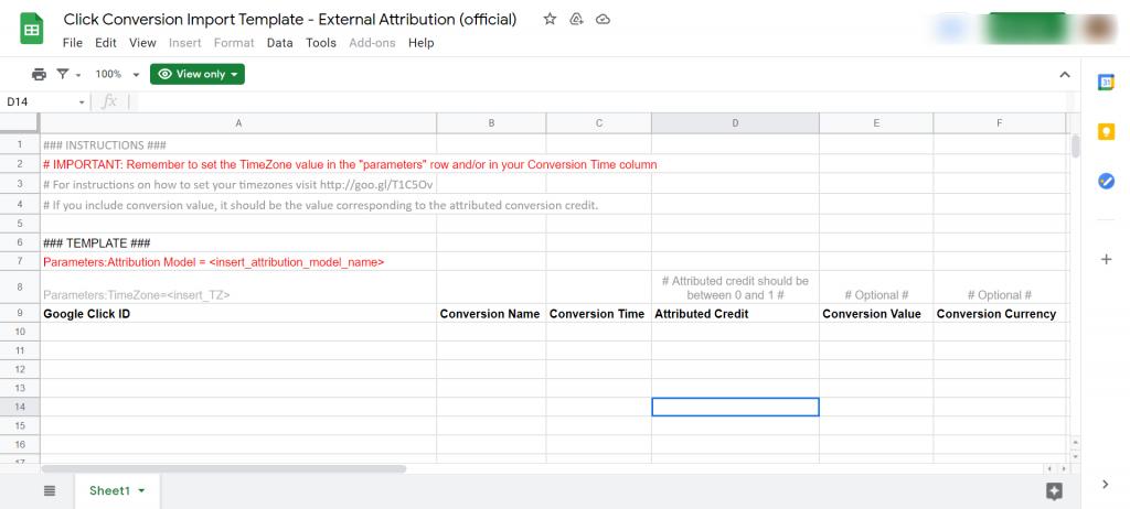 external attribution template google ads